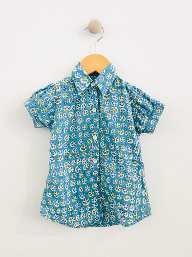 printed button up / 3T