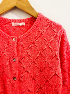 metallic knit cardigan / 8Y