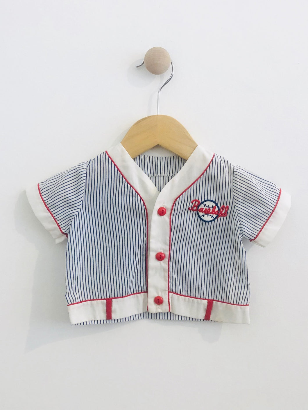 baseball button up / 6-12m