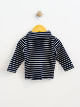 Load image into Gallery viewer, striped nautical shirt / 12m