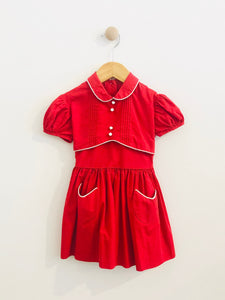 piped and pleated dress / 3T
