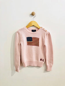 american flag sweater / 5T