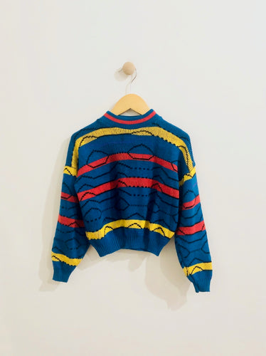 stripe knit sweater / 5-6Y