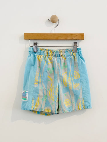 80s graphic print shorts / 5y