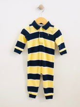 Load image into Gallery viewer, striped polo onesie / 9m
