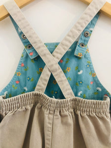carter's embroidered overalls / 9-12m