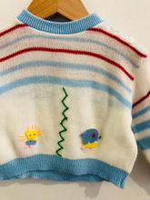 Load image into Gallery viewer, animal stripe sweater / 6-12m