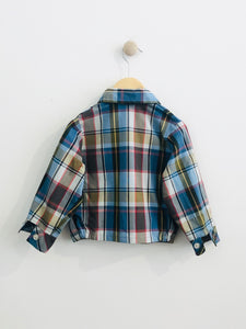 plaid jacket / 2T