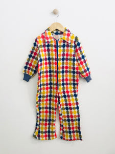 plaid jumpsuit / 3T