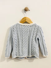 Load image into Gallery viewer, nautical cable knit cardigan / 18m