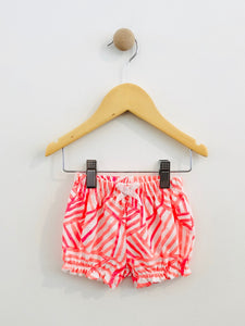 graphic print shorts / 0-3m