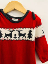 Load image into Gallery viewer, knit reindeer onesie / 6-9m