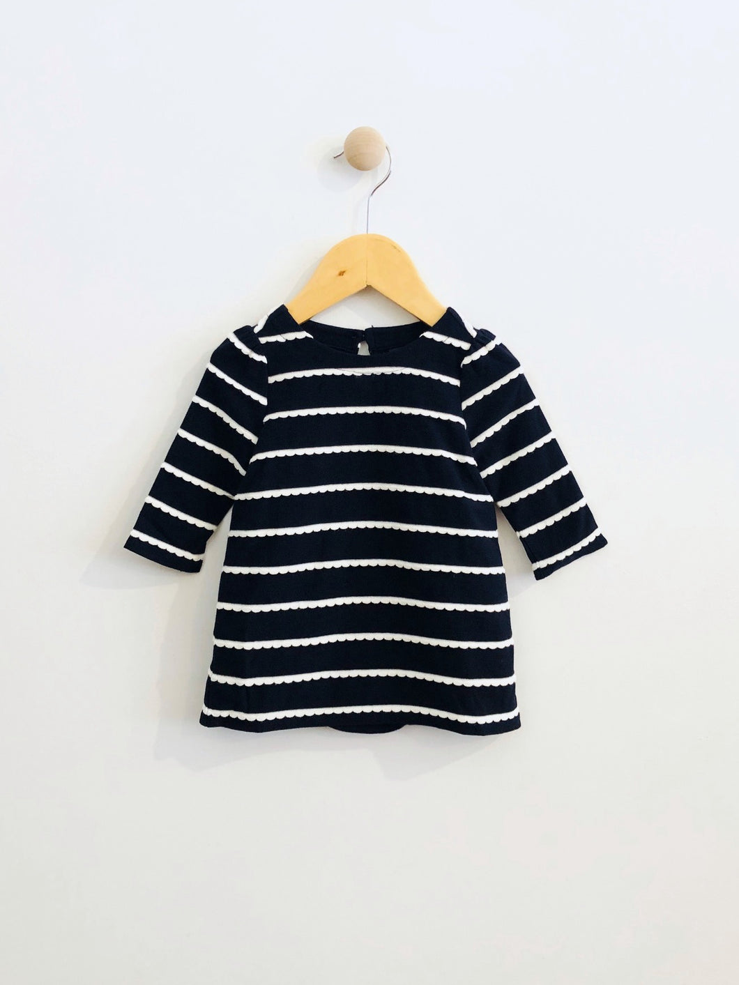 striped dress set / 3-6m