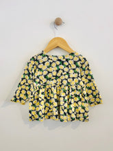 Load image into Gallery viewer, floral print peplum top / 18m
