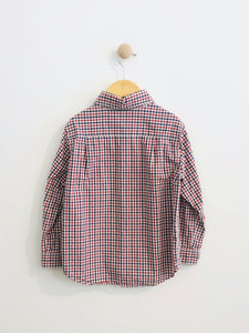 plaid button-up / 5Y