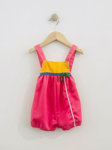 multi color romper / fits 6-12m