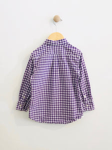 gingham button-up / 3T