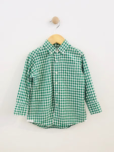 gingham button up / 2T