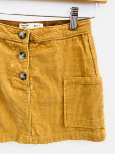 corduroy mini skirt / 8Y