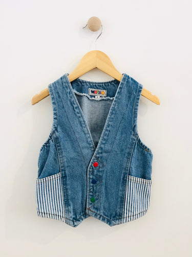 denim vest / fits 4-6Y