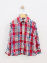 Load image into Gallery viewer, plaid button up / fits 4-6Y
