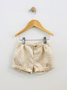 metallic shorts / 9-12m