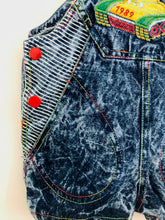 Load image into Gallery viewer, denim shortalls / 6m