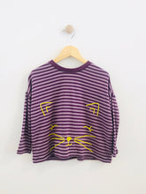 Load image into Gallery viewer, striped kitty tee / 5Y