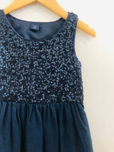 Load image into Gallery viewer, sequin denim dress / XS (4-5Y)
