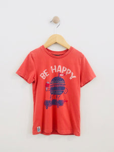 """be happy"" tee / 6Y"