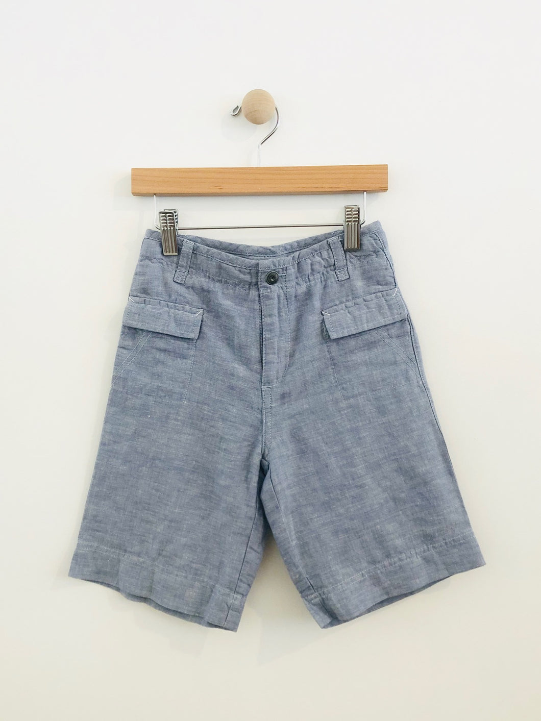 cotton linen shorts / 6Y