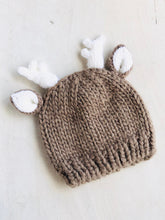 Load image into Gallery viewer, reindeer beanie / 0-3m