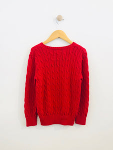 cable knit sweater / 7y