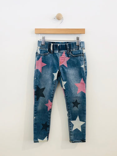 star jean leggings / 5y