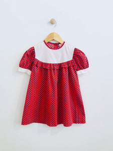 floral cotton dress / fits 4-5Y
