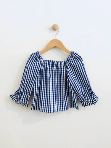 gingham top / fits 4T
