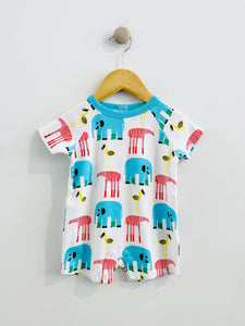 printed short onesie / 9m