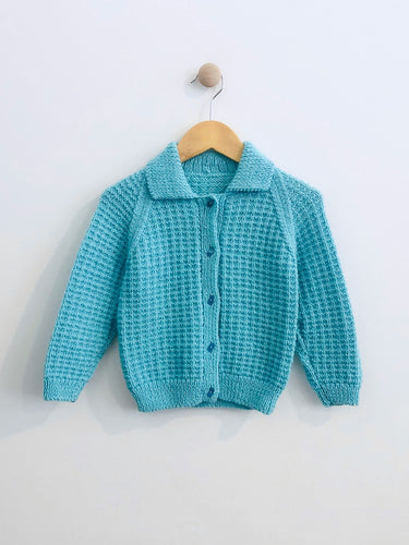 hand knit sweater / fits 4-5Y