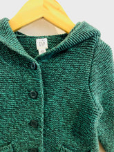 Load image into Gallery viewer, dino hood cardigan / 12-18m