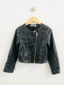 faux leather jacket / 6-7Y