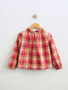 plaid blouse / 6Y