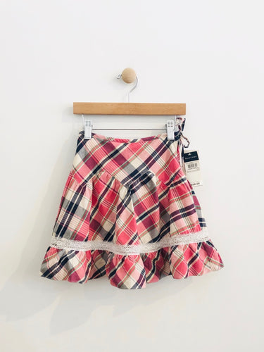 plaid skirt / 3T