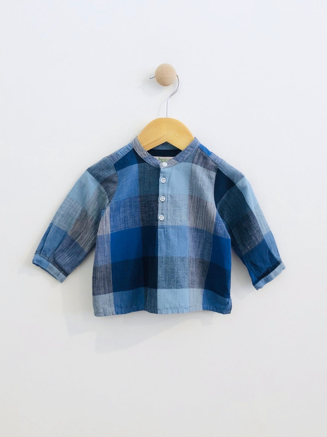 block pattern shirt / 6m