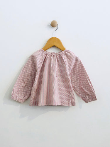 pattern pin stripe blouse / 12m