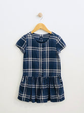 Load image into Gallery viewer, plaid drop waist dress / 6-7Y