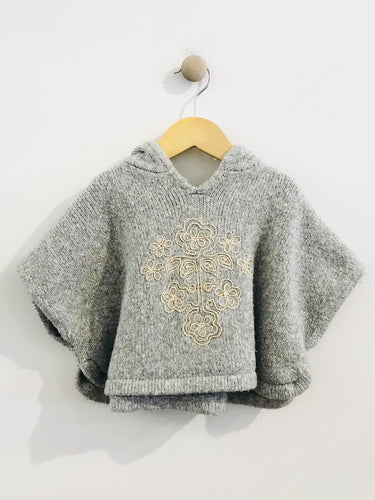 hooded sweater cape / 12m