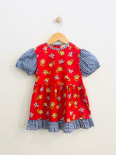 Load image into Gallery viewer, floral gingham dress / 5T