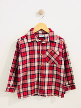 Load image into Gallery viewer, buster brown plaid button-up / 5Y