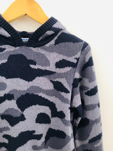 camo hooded sweater / 4T