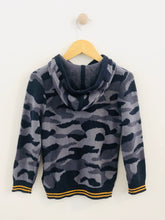 Load image into Gallery viewer, camo hooded sweater / 4T